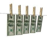 Blanchissage de cents billets d'un dollar illustration stock