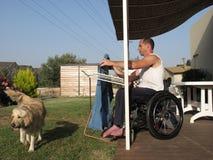 Blanchisserie 2 de fauteuil roulant photo stock