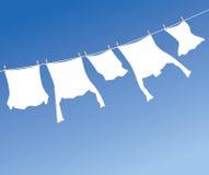 Blanchisserie blanche Images libres de droits