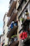 Blanchisserie colorée, Barcelone Images libres de droits