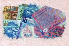 Blanchisserie d'argent : Billets de banque du dollar de Hong Kong Photographie stock