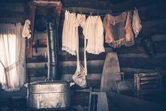 Blanchisserie dans la Chambre de vintage photos libres de droits