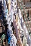 Blanchisserie de Dhobi Ghat dans Mumbai image libre de droits