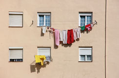 blanchisserie de séchage Photos stock