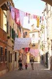 Blanchisserie de séchage, merveille de Venise image libre de droits