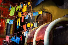 Blanchisserie Hang Stack images libres de droits