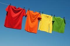 Blanchisserie joyeuse d'été Images stock
