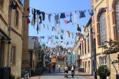 Blanchisserie - séchage des tissus au Luxembourg Image libre de droits