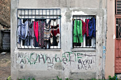 Blanchisserie sociale d'Istanbul : Rue image stock