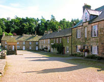 Blanchland Northumberland UK. Blanchland - showing the square - village within the North Pennines Area of Outstanding Natural Beauty situated in Northumberland stock photo