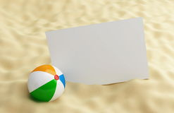 Blanck on a beach. Holiday blanck on a beach Stock Image
