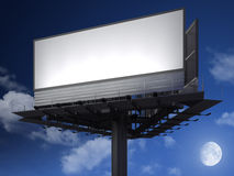Blanck billboard at night Royalty Free Stock Images