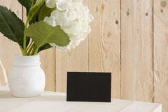 Blanck black business card Stock Images