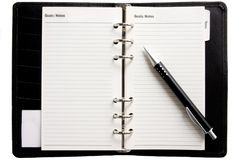 Blanck business  agenda Royalty Free Stock Photo