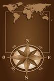 blanck kompasu rama wzrastał Obrazy Royalty Free
