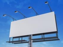 Blanck sign. 3d rendered illustration of a blanck sign Royalty Free Stock Photos