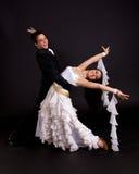 Blanco 04 de los bailarines del salón de baile Fotografía de archivo