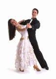 Blanco 07 de los bailarines del salón de baile Foto de archivo libre de regalías