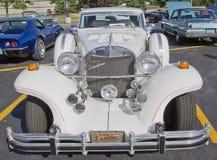 Blanco 1989 del coche de Excalibur Fotografía de archivo