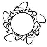 Blanco abstracto del negro de la insignia del Web