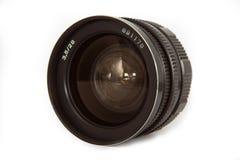 Blanco aislado lente vieja del ower imagen de archivo