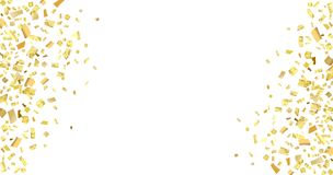 Blanco amarillo del confeti Fotografía de archivo