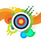 Blanco Archer Sport Game Competition del tiro al arco Imágenes de archivo libres de regalías