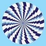 Blanco azul de los círculos hipnóticos Imagen de archivo libre de regalías
