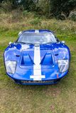 Blanco azul del coche de deportes del vintage Fotos de archivo