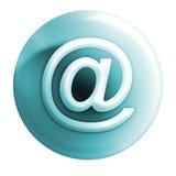 Blanco azulado del icono @ Imagen de archivo libre de regalías