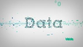 Blanco binario de los datos de las palabras claves ilustración del vector