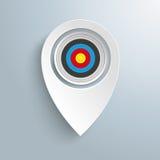 Blanco blanca del marcador de la ubicación ilustración del vector