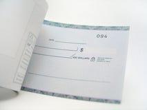 Blanco cheque royalty-vrije stock afbeeldingen