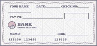 Blanco cheque stock illustratie