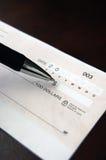 Blanco cheque Stock Foto's