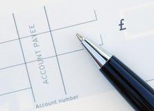 Blanco cheque Royalty-vrije Stock Fotografie