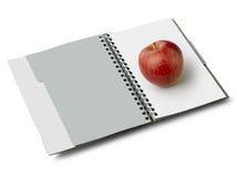 Blanco con la manzana (camino de recortes) Fotos de archivo libres de regalías