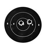 Blanco con los agujeros de punto negro Fotografía de archivo libre de regalías