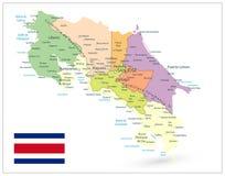 Blanco de Costa Rica Administrative Map Isolated On stock de ilustración