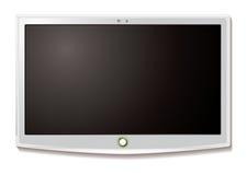 Blanco de la caída de la pared del LCD TV Imágenes de archivo libres de regalías