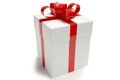 Blanco de la caja de regalo fotografía de archivo