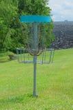 Blanco de la cesta del golf del disco Foto de archivo libre de regalías