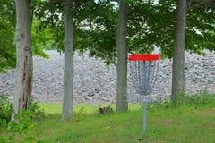 Blanco de la cesta del golf del disco Imágenes de archivo libres de regalías