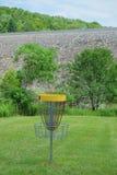 Blanco de la cesta del golf del disco Foto de archivo