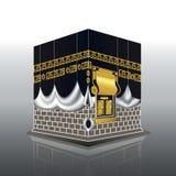 Blanco de la mezquita de Kaaba musulmanes santos del edificio de La Meca, para el jadye, fitr, adha, kareem