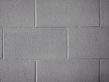 Blanco de la pared del bloque Fotografía de archivo