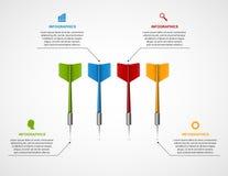 Blanco de la plantilla de Infographic con los dardos libre illustration