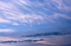 Blanco de la puesta del sol de la opinión del cielo Fotografía de archivo