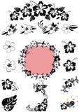 Blanco de n del negro del diseño floral de Hawaii ' Foto de archivo libre de regalías