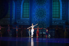 """ blanco de Nights†del """"One mil y uno del ballet de la princesa del pavo real Fotos de archivo"""